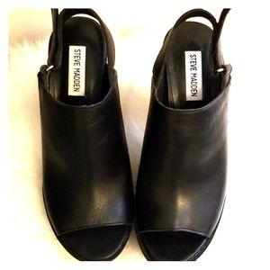 Steve Madden Black Chunky Block Heel